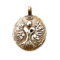 Bronze Angel Charm