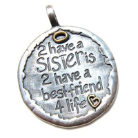 Sterling Silver & Bronze Sisters Charm
