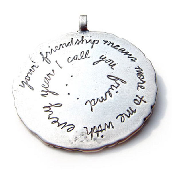 Sterling Silver Friendship Charm